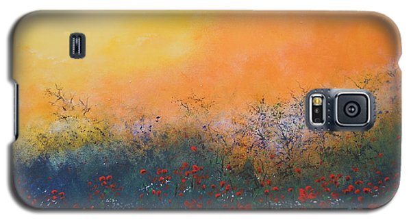 Galaxy S5 Case featuring the painting A Field In Bloom by Dan Whittemore