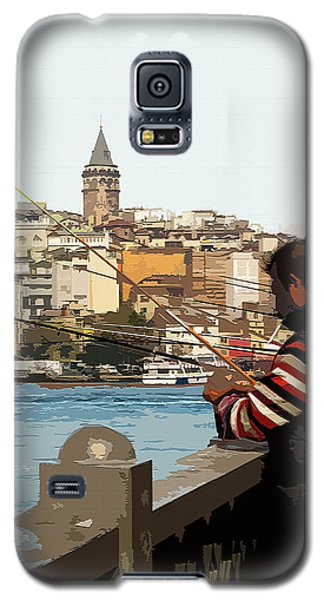 A Fisherman In Istanbul Galaxy S5 Case