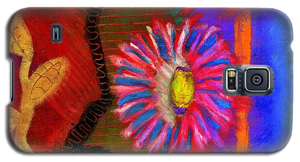 Galaxy S5 Case featuring the painting A Flower For You by Angela L Walker