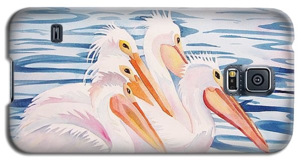 Galaxy S5 Case featuring the painting A Foursome by Martha Ayotte