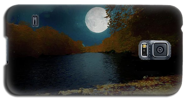 A Full Moon On A River. Galaxy S5 Case