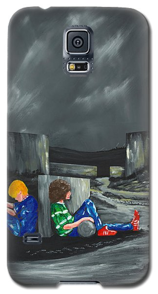 Galaxy S5 Case featuring the painting A Game Of Two Divides by Scott Wilmot