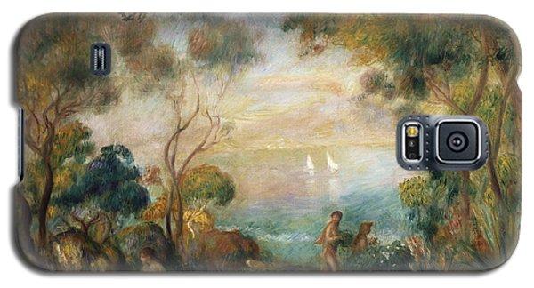 A Garden In Sorrento Galaxy S5 Case by Pierre Auguste Renoir