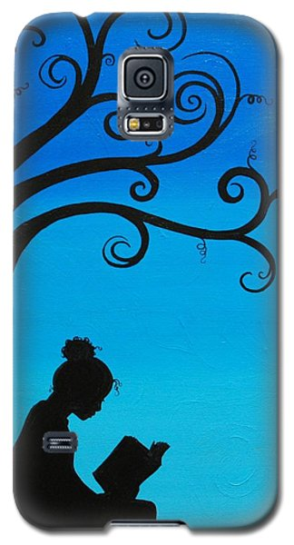 A Girl And Her Book Galaxy S5 Case