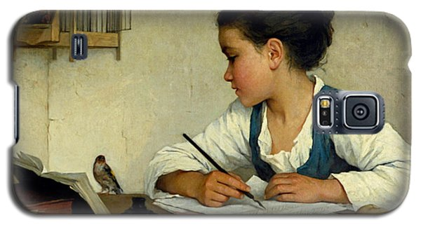 A Girl Writing. The Pet Goldfinch Galaxy S5 Case