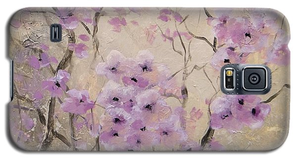 Galaxy S5 Case featuring the painting A Glow by Laura Lee Zanghetti