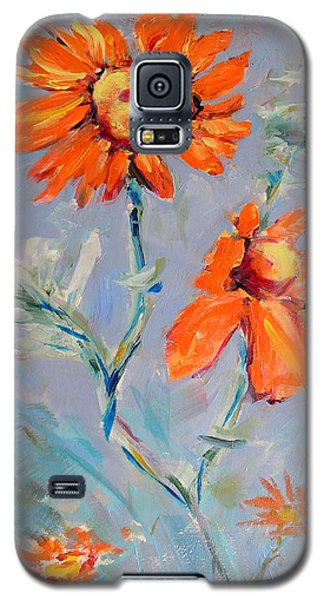 Galaxy S5 Case featuring the painting A Glow by Mary Schiros