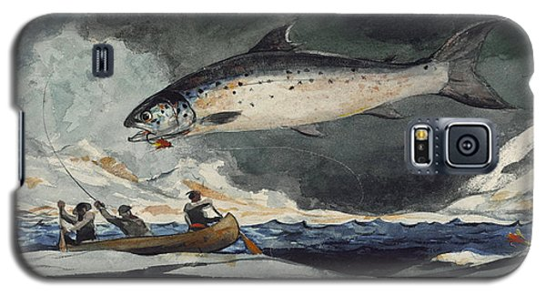Galaxy S5 Case featuring the painting A Good Pool. Saguenay River by Winslow Homer