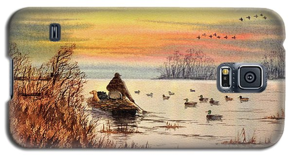 Galaxy S5 Case featuring the painting A Great Day For Duck Hunting by Bill Holkham