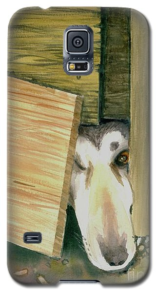 Galaxy S5 Case featuring the painting A Great Escape  -variation 2 by Yoshiko Mishina