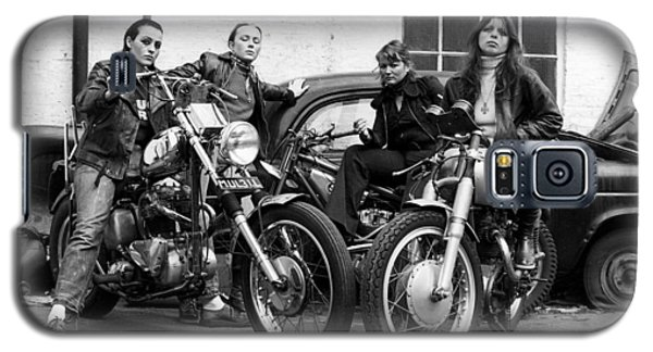 A Group Of Women Associated With The Hells Angels, 1973. Galaxy S5 Case by Lawrence Christopher