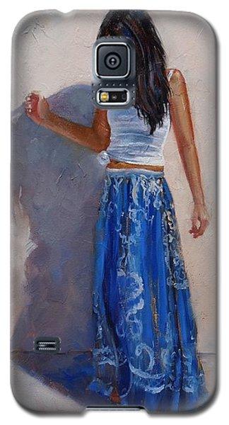 A Harmony Of Blues Galaxy S5 Case by Laura Lee Zanghetti