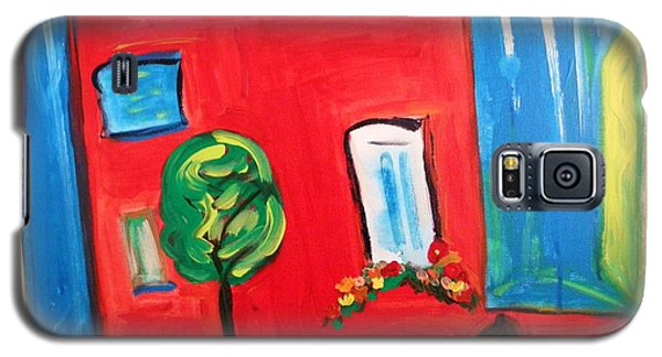 Galaxy S5 Case featuring the painting A House With A Smile To Give by Mary Carol Williams
