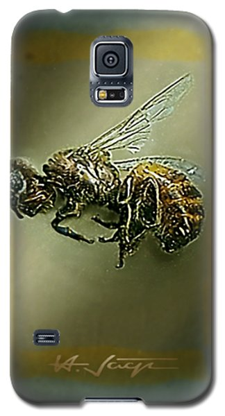 Galaxy S5 Case featuring the photograph A Humble Bee Remembered by Hartmut Jager