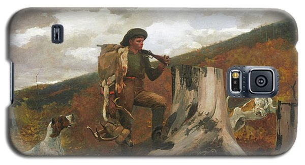Galaxy S5 Case featuring the painting A Huntsman And Dogs - 1891 by Winslow Homer