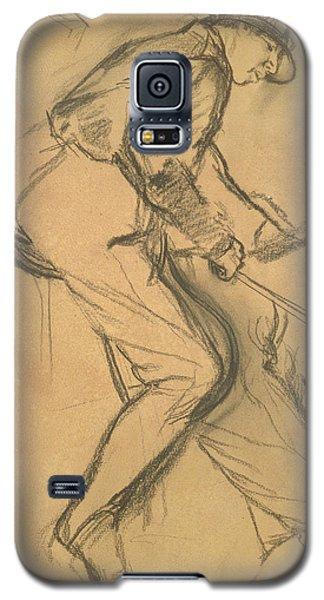 Sport Art Galaxy S5 Case - A Jockey by Edgar Degas