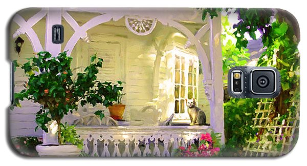 Galaxy S5 Case featuring the painting A Key West Porch by David  Van Hulst