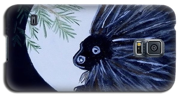 Galaxy S5 Case featuring the painting A Knight In The Woods by Carolyn Cable