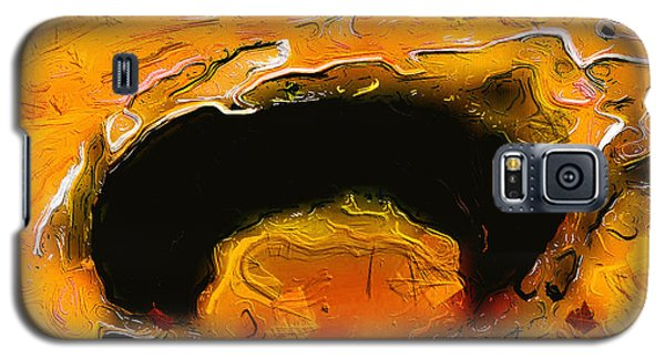 Galaxy S5 Case featuring the digital art A Lifeless Planet Orange by ISAW Company