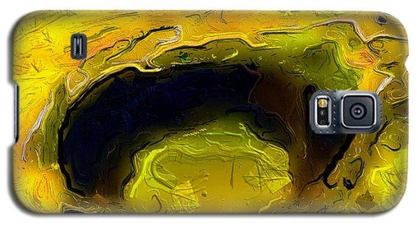 A Lifeless Planet Yellow Galaxy S5 Case