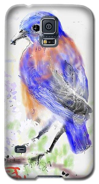 A Little Bird In Blue Galaxy S5 Case