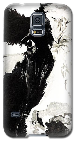 Galaxy S5 Case featuring the painting A Little Shy by Tom Riggs
