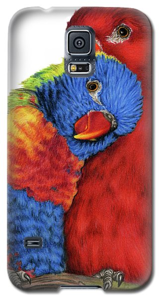 Parakeet Galaxy S5 Case - Love Will Keep Us Together by Sarah Batalka