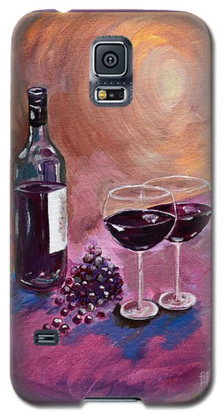 A Little Wine On My Canvas - Wine - Grapes Galaxy S5 Case