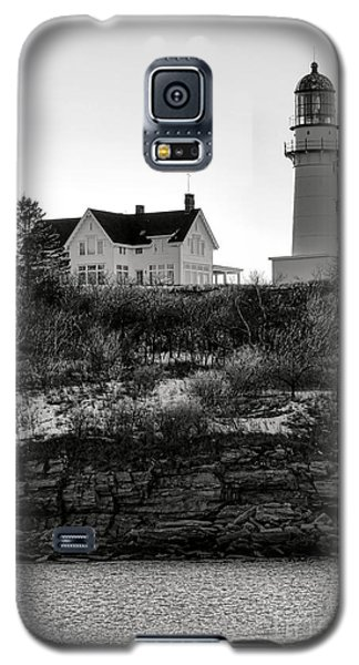 Galaxy S5 Case featuring the photograph A Long Winter At Cape Elizabeth by Olivier Le Queinec