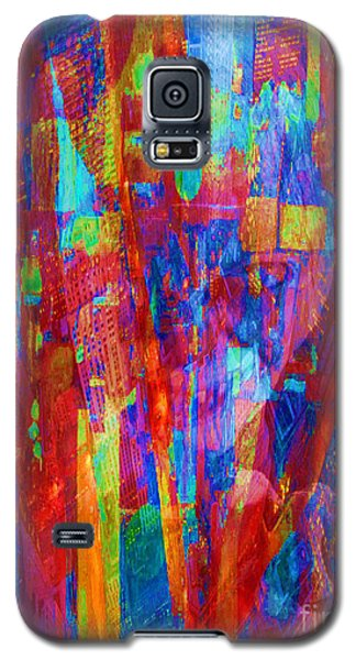 Galaxy S5 Case featuring the painting A Magpie At Wallstreet by Mojo Mendiola