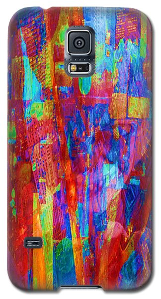 A Magpie At Wallstreet Galaxy S5 Case by Mojo Mendiola