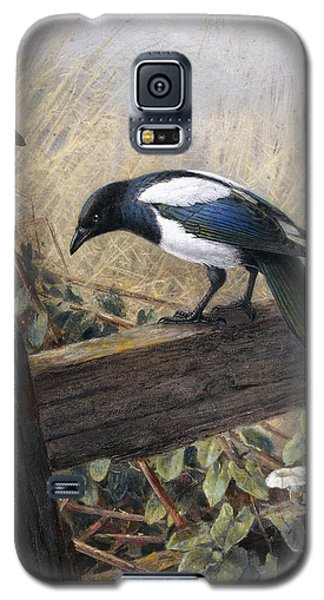 A Magpie Observing Field Mice Galaxy S5 Case