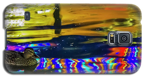 Galaxy S5 Case featuring the photograph A Mallard Of Old San Antone by Gary Holmes