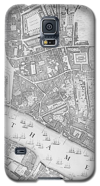 A Map Of The Tower Of London Galaxy S5 Case by John Rocque