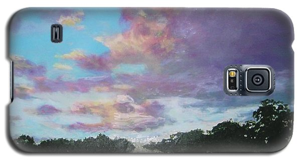 Galaxy S5 Case featuring the painting A Mauve Day by Marie-Line Vasseur