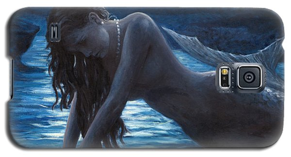 A Mermaid In The Moonlight - Love Is Mystery Galaxy S5 Case