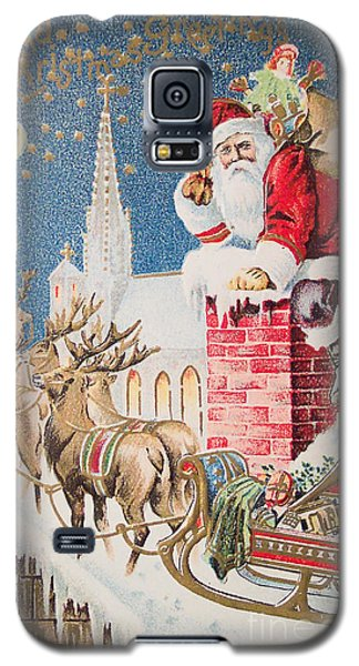 A Merry Christmas Vintage Greetings From Santa Claus And His Raindeer Galaxy S5 Case