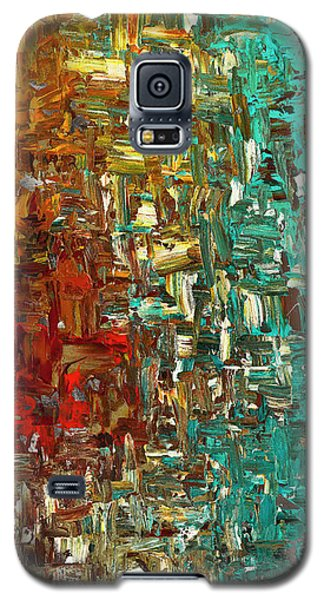 Galaxy S5 Case featuring the painting A Moment In Time - Abstract Art by Carmen Guedez
