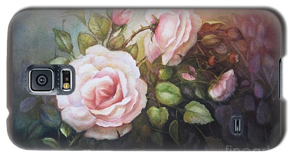 Galaxy S5 Case featuring the painting A Moment In Time by Patricia Schneider Mitchell