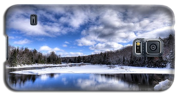 Galaxy S5 Case featuring the photograph A Moose River Snowscape by David Patterson