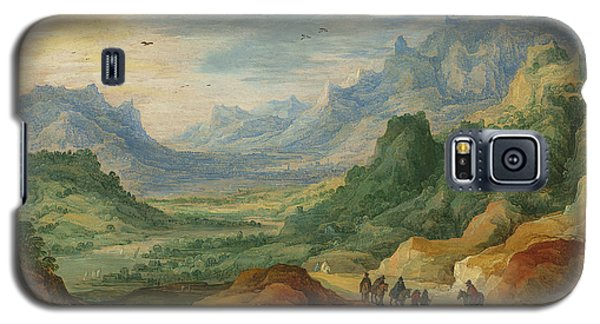 A Mountainous Landscape With Travellers And Herdsmen On A Path Galaxy S5 Case