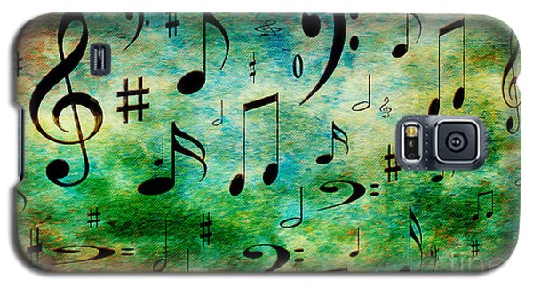 Galaxy S5 Case featuring the digital art A Musical Storm 2 by Andee Design