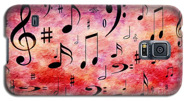 Galaxy S5 Case featuring the digital art A Musical Storm 4 by Andee Design