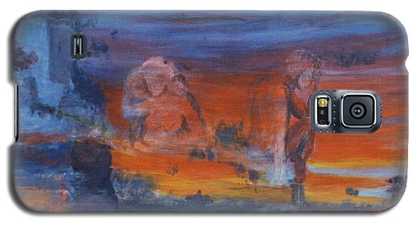 Galaxy S5 Case featuring the painting A Mystery Of Gods by Steve Karol