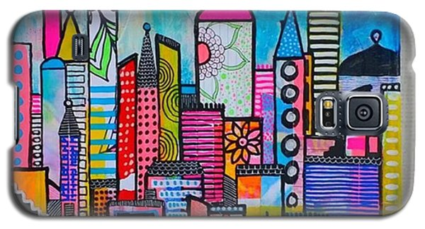 Galaxy S5 Case - A New 12 X12 #cityscape #collage by Robin Mead