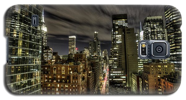 A New York City Night Galaxy S5 Case by Shawn Everhart