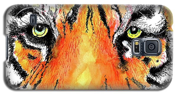 Galaxy S5 Case featuring the painting A Nice Tiger by Terry Banderas