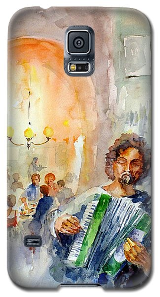 Galaxy S5 Case featuring the painting A Night At The Tavern by Faruk Koksal