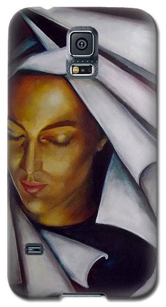 Galaxy S5 Case featuring the painting A Nun by Irena Mohr