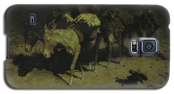 A Pack Train Galaxy S5 Case by Frederic Remington